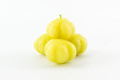 Star Gooseberry. (Phyllanthus acidus Skeels) Stock Photo