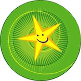 Star for green Royalty Free Stock Photos