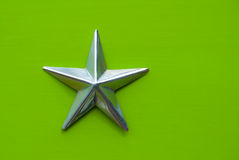 Star on green background Royalty Free Stock Photo
