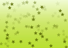 Star green background Stock Photography