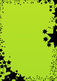 Star green background frame. Star green background for best use your greeting card and background works Royalty Free Stock Image