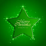Star on green background Stock Image