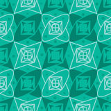 Star green color seamless pattern Royalty Free Stock Photo