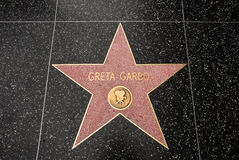 The star of Greta Garbo Stock Photos