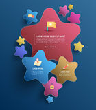 Star group with flat icons Royalty Free Stock Images