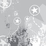 Star on grunge Stock Images