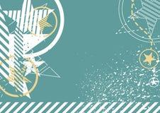 Star on grunge. Background design royalty free illustration