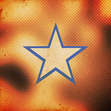 Star on grunge background Royalty Free Stock Images