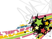Star grunge background.vector. A star background with grunge n colourful waves Stock Image