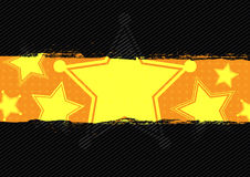 Star grunge banner design Stock Images