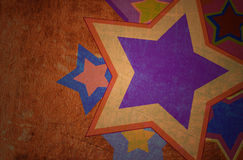 Star grunge on the paper Royalty Free Stock Photo