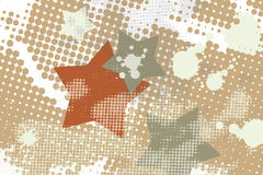 Star grunge splash halftone Stock Images