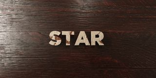 Star - grungy wooden headline on Maple  - 3D rendered royalty free stock image. This image can be used for an online website banner ad or a print postcard Royalty Free Stock Images