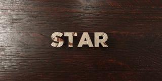 Star - grungy wooden headline on Maple  - 3D rendered royalty free stock image Royalty Free Stock Images