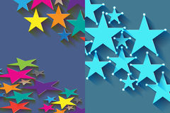 Star half. Illustration design half stars page colorful blue background backdrop graphic Stock Image