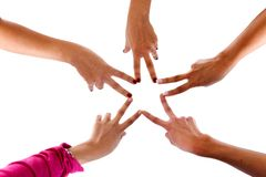 Star with the hands Royalty Free Stock Photography
