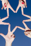 Star from hands Stock Photography