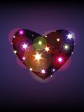 Star heart. Colorful background with stars and heart pattern Stock Photography
