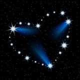 Star heart Royalty Free Stock Photography