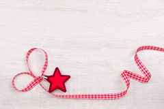 Star heart ribbon red white Stock Image