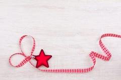 Star heart ribbon red white Stock Image