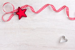 Star heart ribbon red white Stock Images
