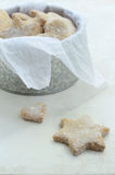 Star and heart shaped homemade ginger cookies Stock Photo