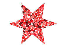 Star of hearts Royalty Free Stock Photo