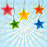 Star holiday background Stock Photo