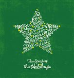 Star holiday card with inspiring handwritten words Stock Photo