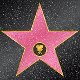 Star. Hollywood Walk of Fame. Vector illustration of star. Hollywood Walk of Fame Stock Photos