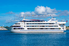 Star of Honolulu. A 232 ft, 4 deck, that offers lunch and dinner cruises, whale watching and more. Located at the Aloha Tower, Pier 8, Honolulu Harbor Stock Images
