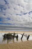 Star of Hope Wreck. Star of Hope wooden wreck on the sands at Ainsdale on Sea Royalty Free Stock Photos