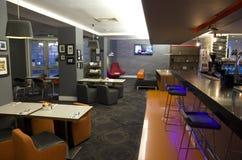 Luxurious bar restaurant in London Hotel stock photo