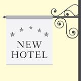 5 star hotel signboard. Vector illustration of the 5 star hotel signboard Stock Photo