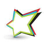 Star icon. Star vector design elements with isolated on white background Royalty Free Stock Photography