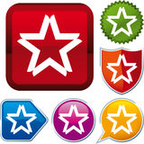 Star icon Stock Images