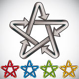 Star icon with arrows. Royalty Free Stock Photography
