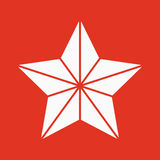 The star icon. Best and favorite, quality symbol. Flat Stock Photography
