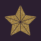 The star icon. Best and favorite, quality symbol. Gold sparkles and glitter Stock Photo