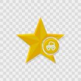 Star icon, car icon. Sign vector symbol Royalty Free Stock Photo
