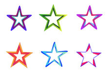 Star Icon. Stylish Abstract Digital bright color logo and graphic art icon Royalty Free Stock Images