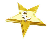 Star icon with a currency sign Stock Photo