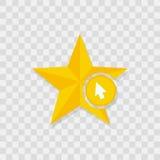 Star icon, cursor icon. Sign vector symbol Stock Photos