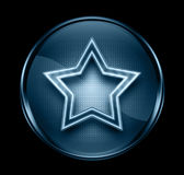 Star icon dark blue. Royalty Free Stock Photo