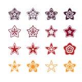 Star icon design set Royalty Free Stock Photography