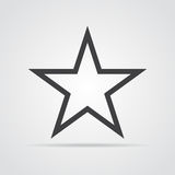 Star icon in flat design. Gray star icon on white background. Vector illustration. Star  icon in flat design. Gray star icon on white background. Vector Royalty Free Stock Photography