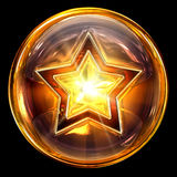 Star icon glass. stock image