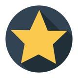 Star icon long shadow flat design vector illustration Royalty Free Stock Photo