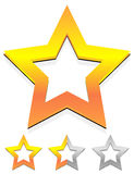 Star icon for rating, ranking, quality concepts Stock Photography